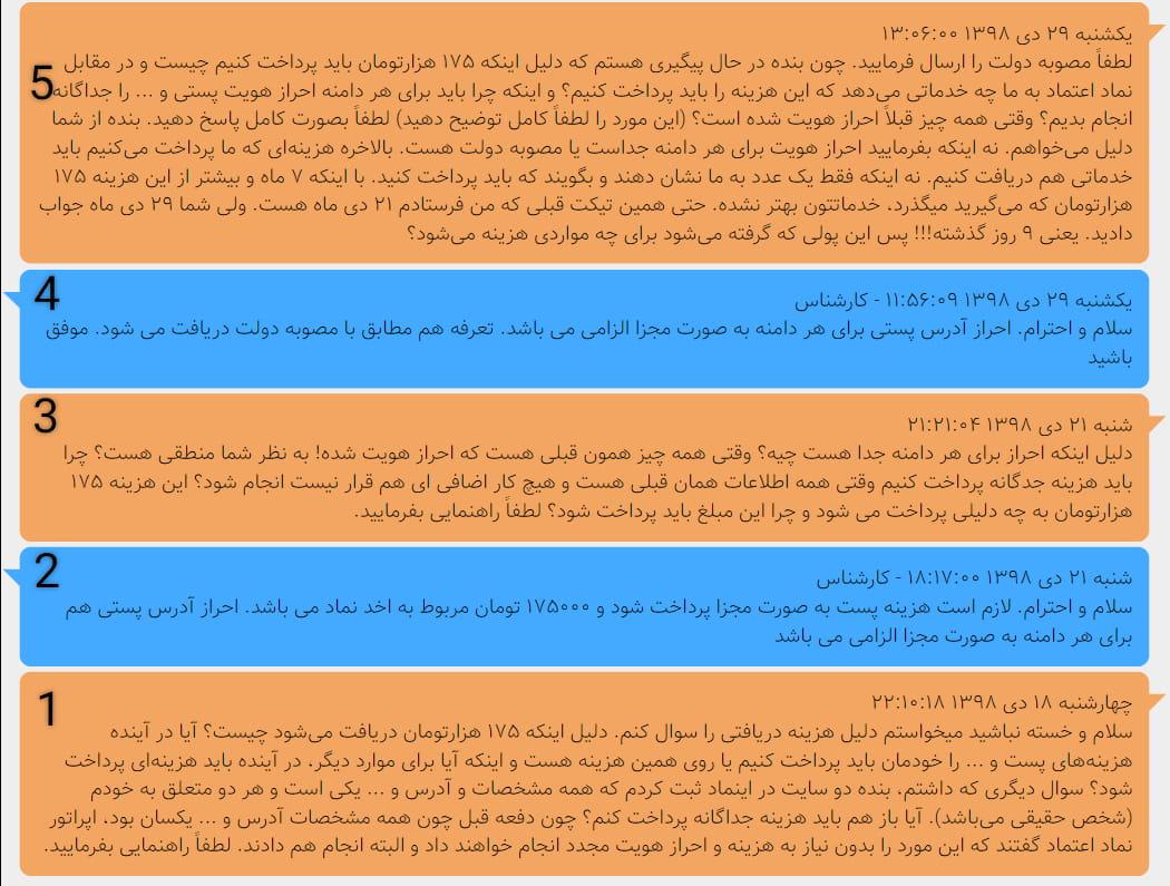 متن پیام های نماد اعتماد